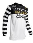 Thor-Hallman MX Motocross Ringer Jersey (Black/White)