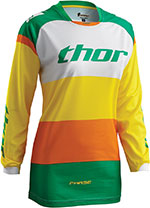 THOR MX Motocross 2016 Women's PHASE Jersey (BONNIE Green/Yellow)