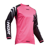 Thor MX Motocross Women's Sector Jersey (ZONES Black/Pink)