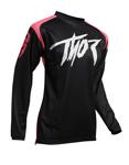Thor MX Motocross Women's Sector Link Jersey (Pink/Black)