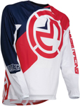 Moose Racing MX Off-Road Youth Qualifier Jersey (Red/White/Blue)