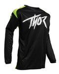 Thor MX Motocross Youth Sector Link Jersey (Acid/Black)