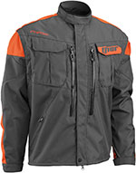 THOR MX 2016 Motocross/Offroad/Dual Sport Men's PHASE Jacket (Charcoal/Orange)