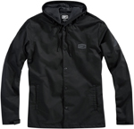 100% MX Motocross Men's APACHE Hooded Snap Jacket (Black)