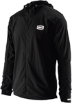 100% MX Motocross Men's AERO TECH Windbreaker Jacket (Black)