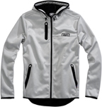 100% MX Motocross Men's MISSION Softshell Hooded Jacket (Gray/Black)