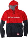 Factory Effex Official Licensed HONDA Double Zip-Up Hoodie Sweatshirt (Red/Black)