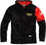 100% GEICO Honda Officially Licensed FLUX Hooded Jacket (Black)