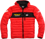100% GEICO Honda Officially Licensed MODE Hooded Puff Jacket (Red)