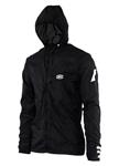 100% MX Motocross Men's AERO TECH Windbreaker Jacket (Black)