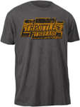 Throttle Threads Men's BOXED OUT Short-Sleeve Tee T-Shirt (Charcoal Heather)