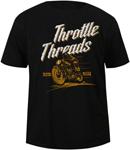 Throttle Threads Men's WRECKLESS Short-Sleeve Tee T-Shirt (Black)