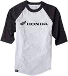Factory Effex Official Licensed HONDA Baseball T-Shirt (Grey/Black)