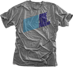 100% MX Motocross DAYTONA Premium Tee Short Sleeve T-Shirt (Heather Grey)