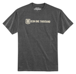 ICON 1000 Men's INLINE Tee Short Sleeve T-Shirt (Charcoal Heather)