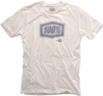 100% MX Motocross STATIC Short Sleeve T-Shirt (White)