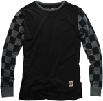 100% MX Motocross SHIBUYA Long Sleeve T-Shirt (Black / Checkers)