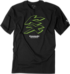 Factory Effex Official Licensed KAWASAKI Knockout T-Shirt (Black)