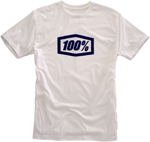 100% MX Motocross ESSENTIAL Short Sleeve Tee T-Shirt (White/Blue)