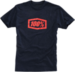 100% MX Motocross ESSENTIAL Short Sleeve Tee T-Shirt (Navy Heather)