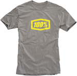 100% MX Motocross ESSENTIAL Short Sleeve Tee T-Shirt (Heather Grey)