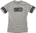 100% MX Motocross LEGACY Short Sleeve Tee T-Shirt (Heather Grey)