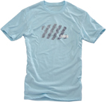 100% MX Motocross STRIKE Short Sleeve Tee T-Shirt (Ice Blue)
