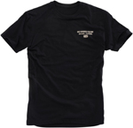 100% MX Motocross PASSION Short Sleeve Tee T-Shirt (Black)