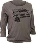 Throttle Threads Women's HELLRAISER Long Sleeve T-Shirt (Grey)