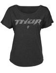 THOR MX Motocross Women's 2017 ROOST Dolman Tee T-Shirt (Black)