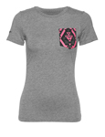 THOR MX Motocross Women's 2017 FACET Pocket Tee T-Shirt (Premium Heather Gray)