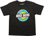 MOOSE Racing Boys 2017 EMBLAZON Tee Short Sleeve T-Shirt (Black)