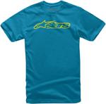 Alpinestars Kid's BLAZE Tee Short Sleeve T-Shirt (Turquoise/Hi Vis Yellow)