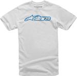 Alpinestars Kid's BLAZE Tee Short Sleeve T-Shirt (White/Blue)