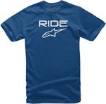 Alpinestars Kid's Ride 2.0 Tee Short Sleeve T-Shirt (Blue/White)