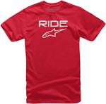 Alpinestars Kid's Ride 2.0 Tee Short Sleeve T-Shirt (Red/White)