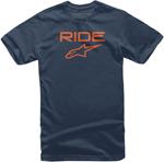 Alpinestars Kid's Ride 2.0 Tee Short Sleeve T-Shirt (Navy/Orange)