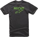 Alpinestars Kid's Ride 2.0 Tee Short Sleeve T-Shirt (Black/Green)