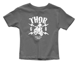 Thor MX Motocross Youth Lightning T-Shirt (Charcoal Gray)