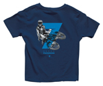 Thor MX Motocross Youth Plessinger 7 T-Shirt (Navy Blue)