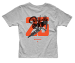 Thor MX Motocross Youth Musquin 25 T-Shirt (Heather Gray)