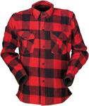 Z1R DUKE Flannel Shirt (Black/Red)