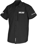 Throttle Threads Men's VANCE & HINES Short-Sleeve Shop Shirt (Black)