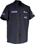 Throttle Threads Men's PARTS UNLIMITED TEAM Short-Sleeve Shop Shirt (Black)