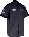 Throttle Threads Men's DRAG SPECIALTIES TEAM Short-Sleeve Shop Shirt (Black)