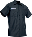 Throttle Threads Men's PERFORMANCE MACHINE Short-Sleeve Shop Shirt (Black)