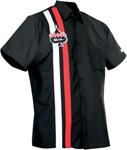 Throttle Threads Men's KLOCKWERKS Short-Sleeve Shop Shirt (Black)