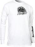 Throttle Threads Men's Long Sleeve Thermal Shirt (White)
