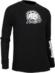 Throttle Threads Men's Long Sleeve Thermal Shirt (Black)