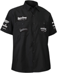 Throttle Threads Men's TEAM Short-Sleeve Shop Shirt (Black)